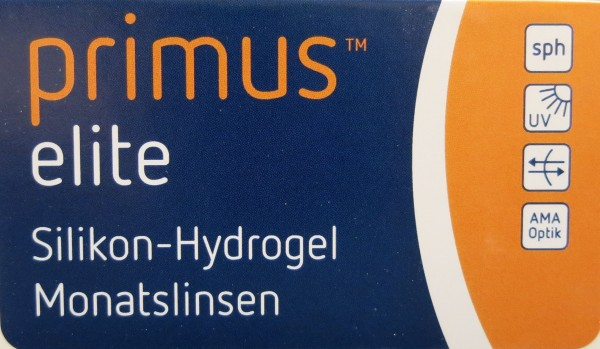 Primus elite Silikon-Hydrogel Monatslinse 2 x 6er Pack