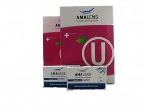 AMA Lens 4 Wochen comfort 2 x 6er & AMA Lens BIO U Universallösung 4 x 360ml