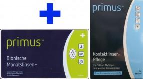 Primus Bionische Monatslinsen+ mit Primus Kombilösung im Set (Halbjahresbedarf)